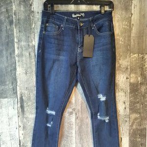 Designer Distressed Boyfriend Jegging Jeans